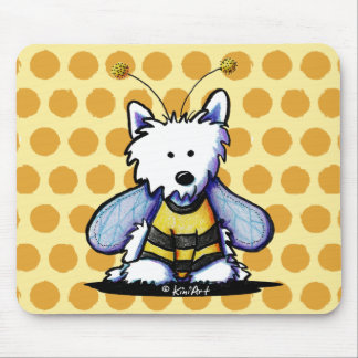 Buzzy Bee Westie Mouse Pad