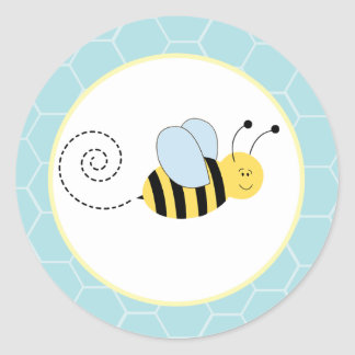 Buzzy Bees Bumble Bee Envelope Seals / Toppers 20 Classic Round Sticker