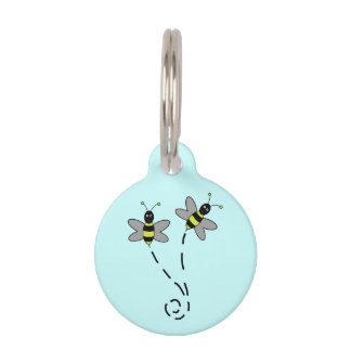 Buzzy Bumble Bees Pet ID Tag