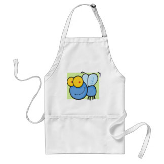 Buzzy the Fly with Green Background Adult Apron