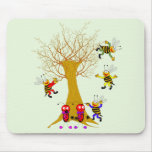 Buzzy Tree Adventure Ladybugs and Bees playing in  Mouse Mat