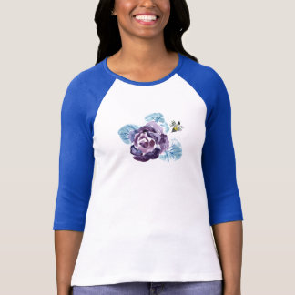 Buzzzzzing - Summer Rose & Bee, Sumi-e in color T-Shirt