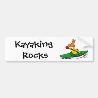 BV- Funny Kayaking Duck Bumper Sticker