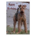 BV tarjeta de cumpleaños linda de Airedale
