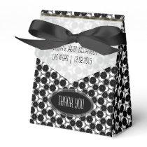 BW01 Geometric Hexagon Pattern Black White Party Favor Box