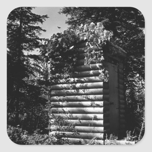 BW Alaska deluxe outhouse 1970 Sticker