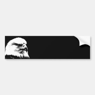 BW American Bald Eagle Bumper Sticker