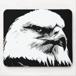 BW American Bald Eagle Mouse Pad