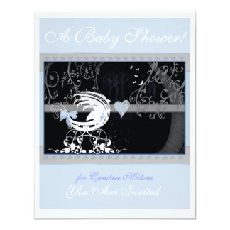 BW baby shower style Charla 1 Card