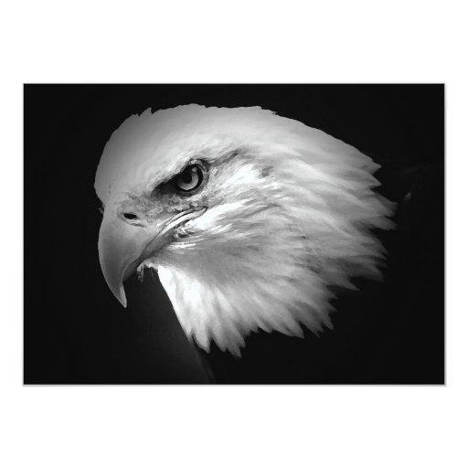 BW Bald American Eagle Invitation