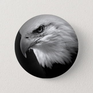 BW Bald Eagle Button