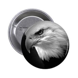 BW Bald Eagle Button