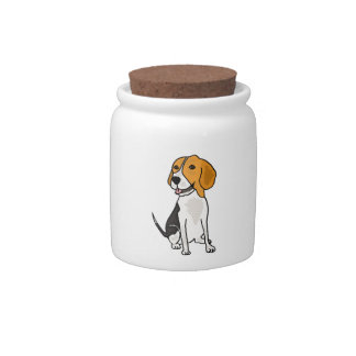 BW- Beagle Cartoon Cany or Cookie Jar Candy Dishes