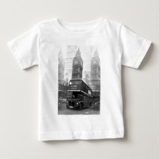 BW Black & White London Bus & Big Ben Baby T-Shirt