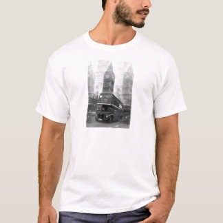BW Black & White London Bus & Big Ben T-Shirt