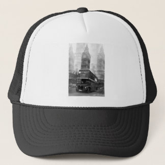 BW Black & White London Bus & Big Ben Trucker Hat