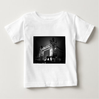 BW Black & White London Tower Bridge Baby T-Shirt