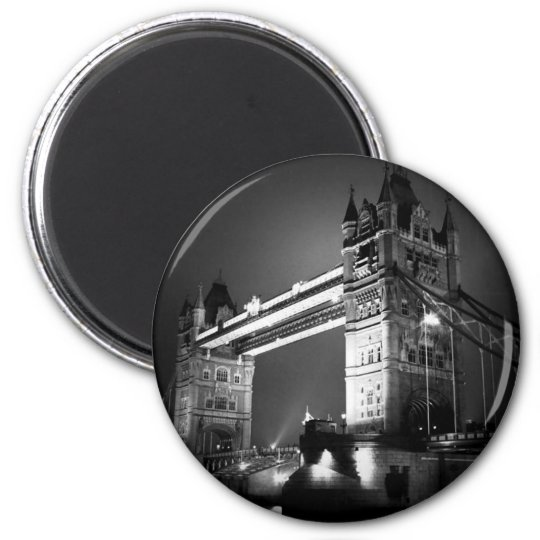 BW Black & White London Tower Bridge Magnet