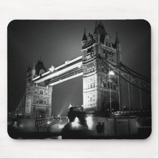 BW Black & White London Tower Bridge Mouse Pad