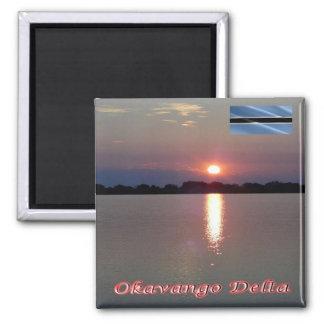 BW - Botswana -  Okavango Delta Sunset Magnet
