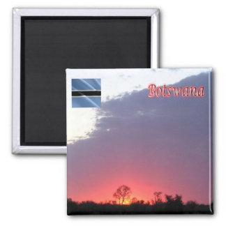 BW - Botswana - salida del sol Imán Cuadrado