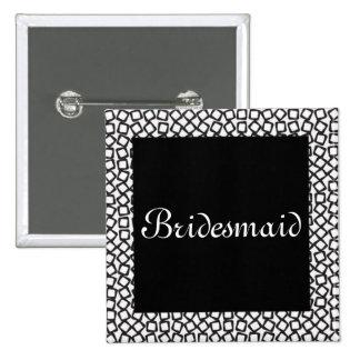 BW Bridesmaid Pins