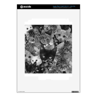 BW Cat Collage Decal For iPad 3