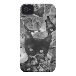 BW Cat Collage iPhone 4 Case-Mate Cases