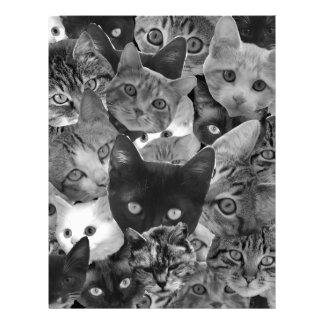 BW Cat Collage Letterhead