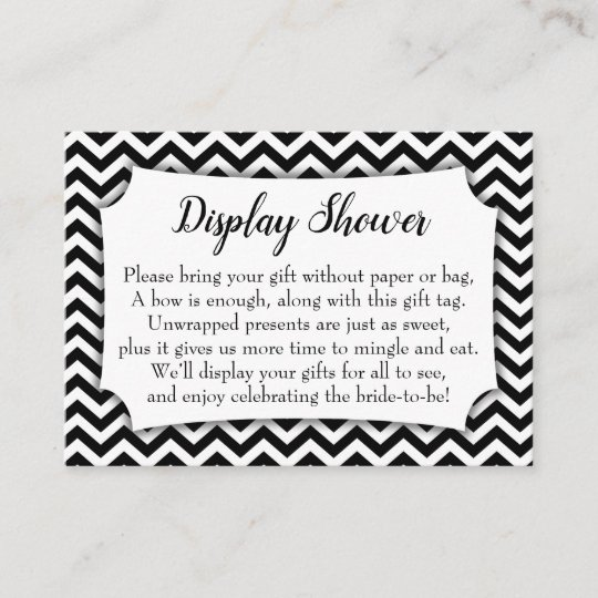 bw chevron no wrap display bridal shower gift card