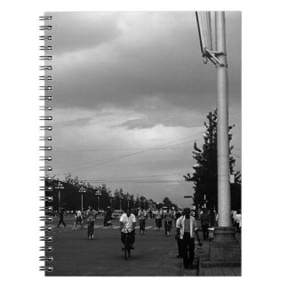BW China Pekin street Tiananmen square 1970 Notebook