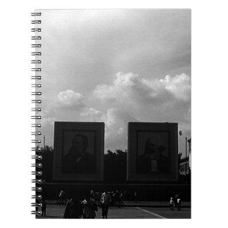 BW China Pekin Tiananmen square 1970 Notebook