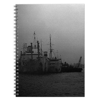BW China Shanghai port 1970 Notebook