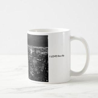 BW-city I LOVE the city Coffee Mugs