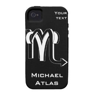 Bw del aries y del escorpión Case-Mate iPhone 4 fundas