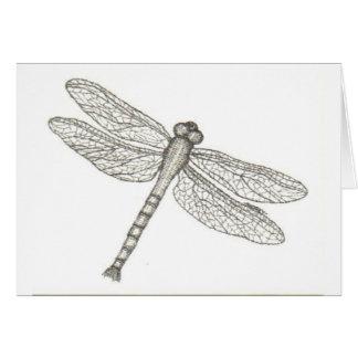 bw_dragonfly05 001 tarjeta de felicitación