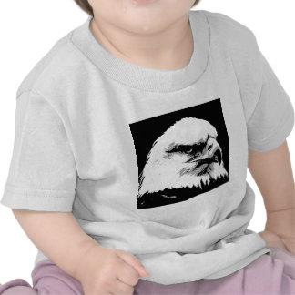 BW Eagle calvo americano Camisetas