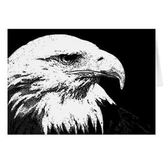 BW Eagle calvo americano Tarjeta De Felicitación