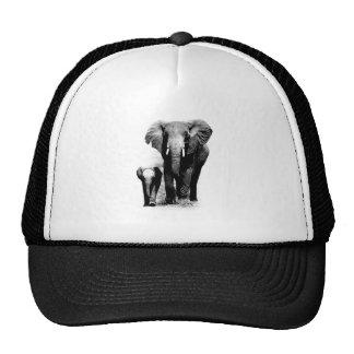 BW Elephant & Baby Elephant Trucker Hat