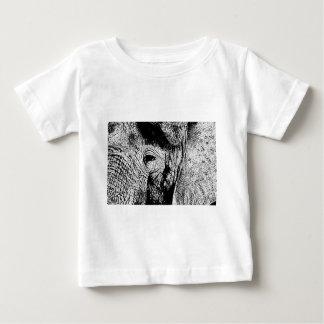 BW Elephant Eye Baby T-Shirt