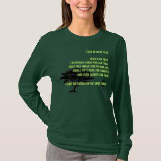 bw-family-tree, female, I run because I can.Whe... T-Shirt