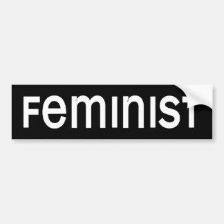 BW_feminist Bumper Sticker
