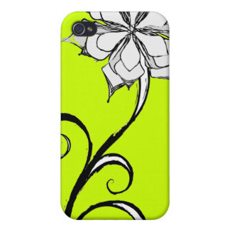 BW Floral Design Cases For iPhone 4
