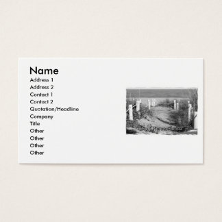 BW Fort Pierce, Florida beach walk dune roped off Business Card