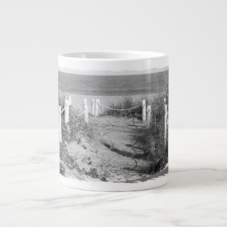 BW Fort Pierce, Florida beach walk dune roped off Giant Coffee Mug