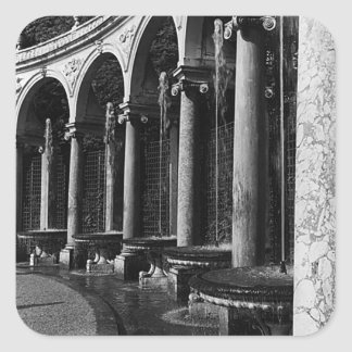 BW France palace of Versailles Colonnade Grove Square Sticker
