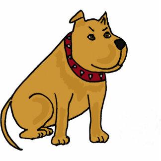 BW- Funny Cartoon Pitbull Dog Photo Sculpture