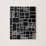 BW Geometric Pattern PHIL Jigsaw Puzzles