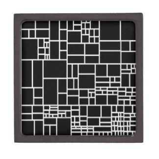 BW Geometric Pattern PHIL Premium Jewelry Boxes