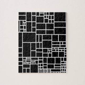 BW Geometric Pattern PHIL Puzzle
